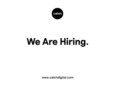 We're Hiring! job work animation web design design hiring