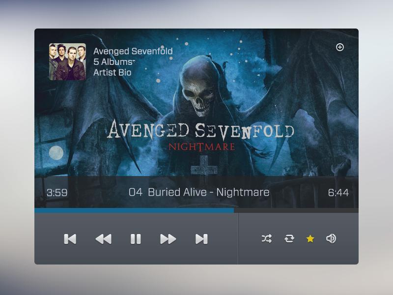 Music Player music widget ui awesomeness