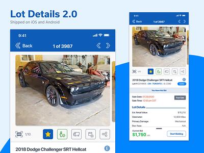 App Lot Details 2.0 ux copart auto auction mobile ios app ui