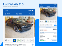 App Lot Details 2.0 ux copart auto auction mobile ios app ui
