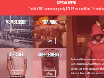 Gym website - WIP wip gym homepage squarespace
