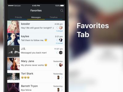 TBA Twitter App - Favorites Tab kess ui timeline messages twitter messaging iphone mobile ios app