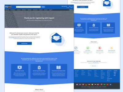 Thank You Landing Page design illustration auction responsive website ui landing page
