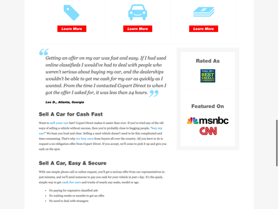 Copart Direct Redesign auto responsive ui website homepage