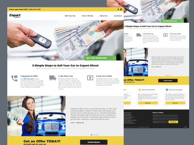 Copart Direct Redesign auto responsive ui website homepage