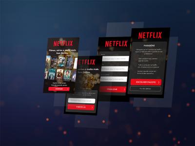 Netflix - Sign-up - #100DayUI web mobile netflix signup