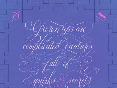 Roald Dahl Illustration Quote calligraphy artist calligraphy and lettering artist hand lettering art hand lettering handlettering lettering illustration calligraphy