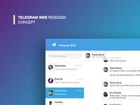 Telegram Web concept