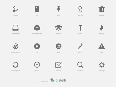 Distelli App Icons build deployment distribution dashboards uiux
