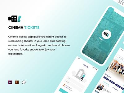 Cinema Tickets App Design graphic design ui