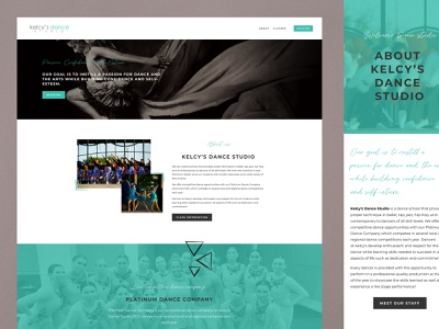 Kelcy's Dance Studio Website Design squarespace art direction branding illustration graphic design website website design