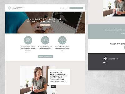 ICT Lifestyle Management Website Design logo art direction branding graphic design web design website design