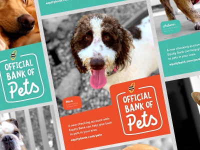 Official Bank of Pets vector design logo poster illustration art direction branding graphic design