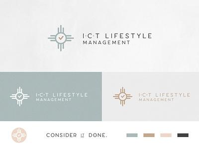ICT Lifestyle Management Brand Identity vector design logo illustration art direction branding graphic design