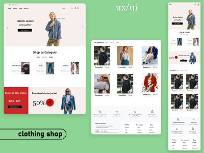 ux ui design website design clothing shop shop web design ui ux illustration design