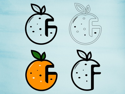 cheap fruit logo illustrator concept logodesign minimal flat design logo