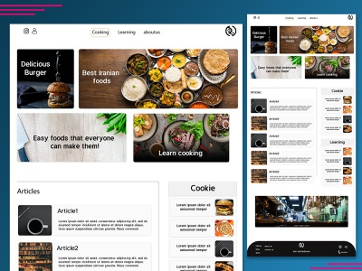 Mary food cooking website web design ux ui design