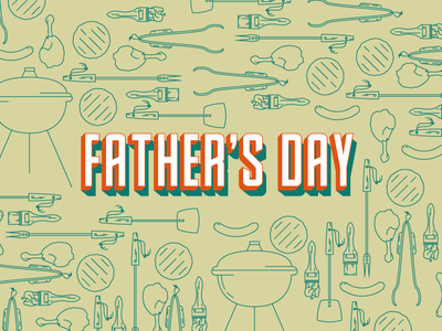 Father's Day BBQ Icons bbq brush tongs grill meat icons barbecue day fathers