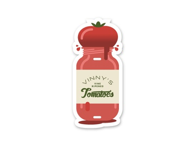 Vinny's Tomatoes tomato vinny playoff mule sticker