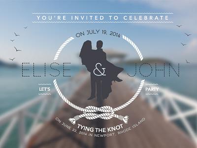 post-wedding party invite wedding