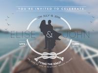 post-wedding party invite