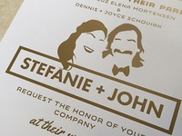 srtefanie+john wedding invite