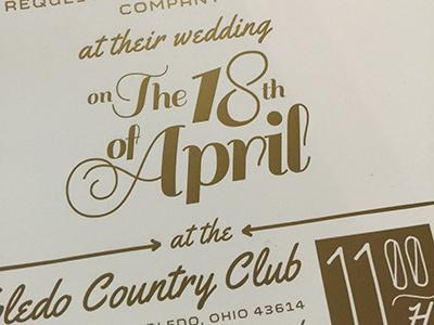 stefa+john invite detail custom type invite wedding