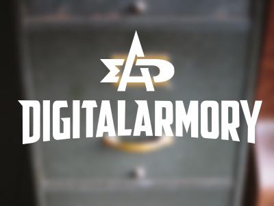 Digital Armory monogram + wordmark vector logo monogram