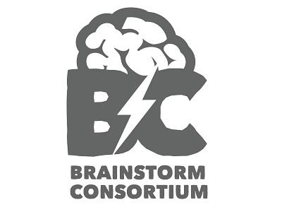 Brainstorm Consortium logo design branding logo