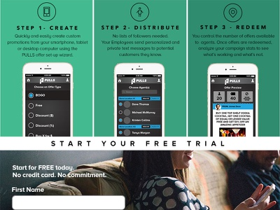 Pulls Desktop layout signup startup website desktop ux ui