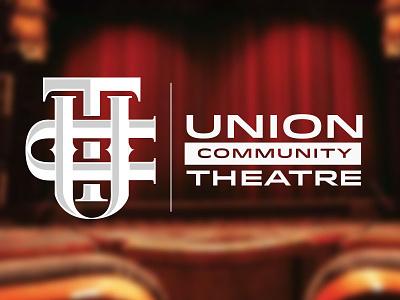 Union Community Theatre Monogram Logo art play theatre monogram logo design logo