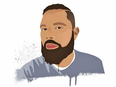 Vector Self Portrait illustration self portrait vector