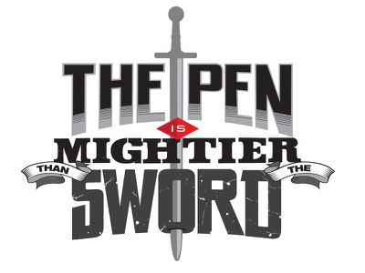 The Pen is Mightier than the Sword idioms sayings pen sword type typography