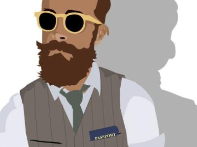 passportpocketsquare travel cartoon vector character vector illustration vector character hipster passport