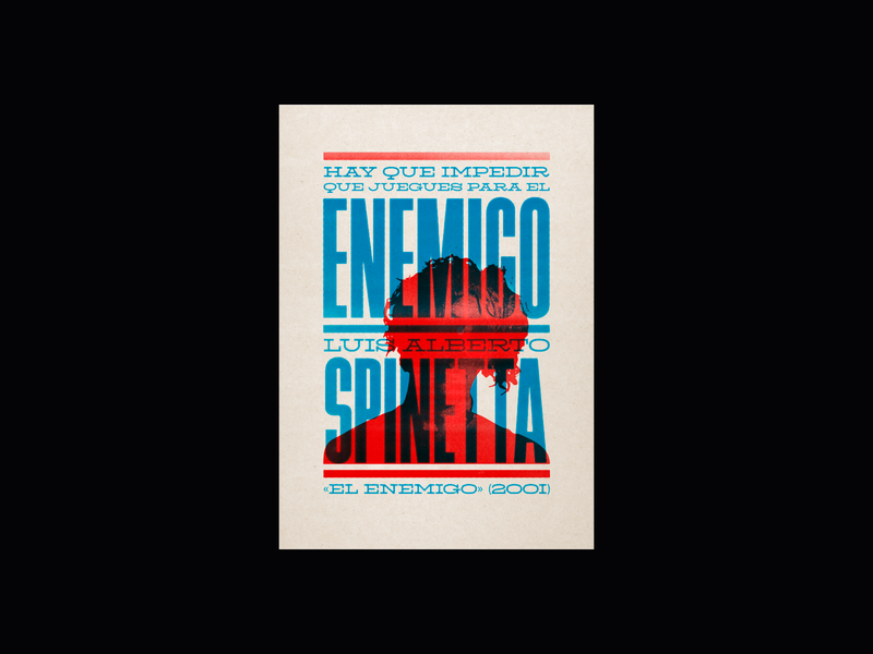 Poster Spinetta music spinetta icon typography argentina vector design illustration afiche poster