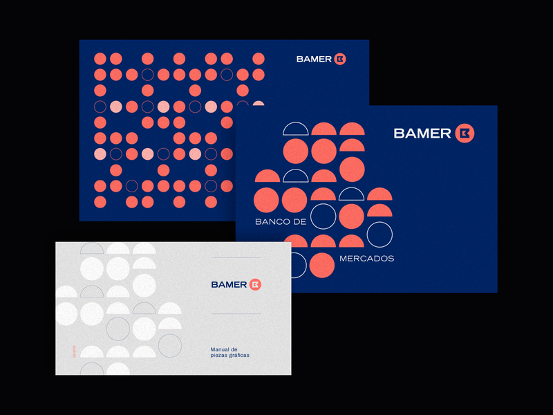Bamer Applications bank coins circles modernism geometric design vector iso argentina trademark logotype branding brand symbol logo