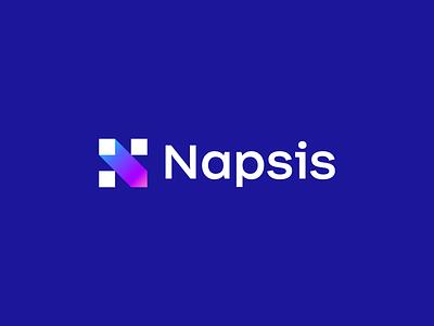 Napsis hr software sinapsis fintech tech app geometric design vector argentina trademark logotype brand branding symbol logo