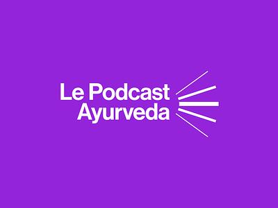 Le Podcast Ayurveda sound app audio podcast francia france modernism geometric design vector trademark logotype brand branding symbol logo