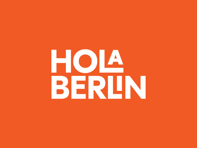 Hola Berlin® typography type modern germany tour berlin illustration argentina design trademark logotype brand branding symbol logo