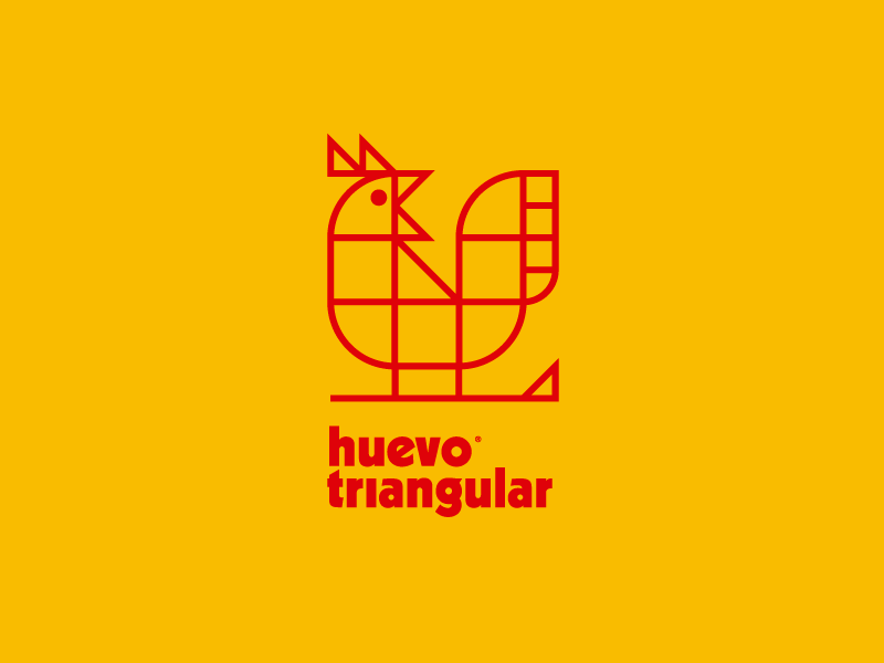 Huevo triangular® egg chicken trademark symbol logotype branding brand logo