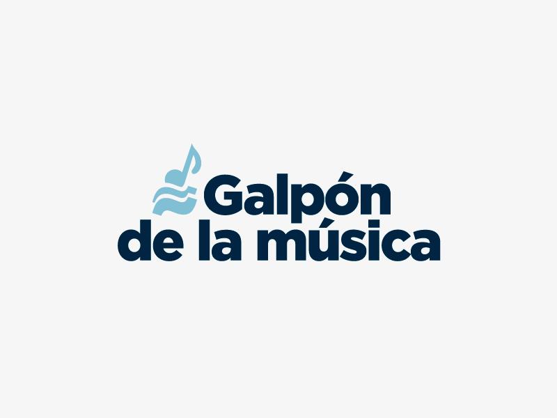 Galpón de la música® venue music argentina trademark symbol logotype branding brand logo