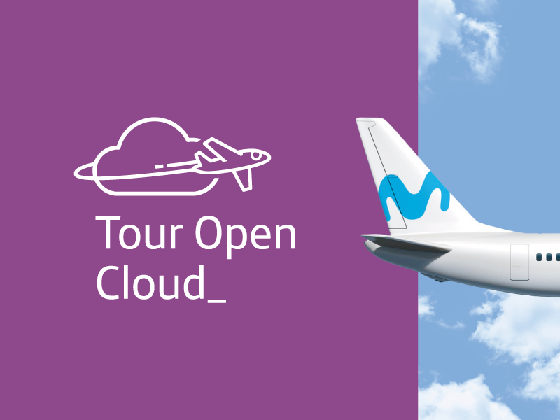 Tour Open Cloud® plane event telefonica movistar trademark symbol logotype branding brand logo