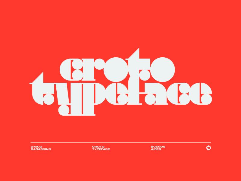 Typeface logotype argentina custom geometric modernism tipografia tipo fuente font type logo