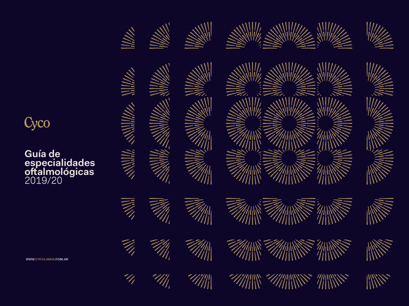 Cyco® Brochure ophthalmology view iris eye grid type modernism vector design geometric iso argentina trademark branding logotype brand symbol logo