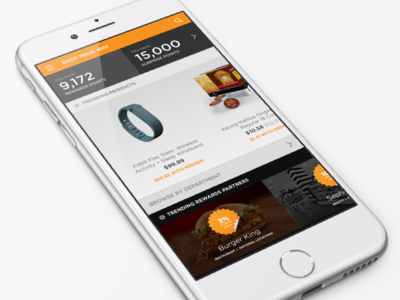 Rewards Program Mobile UI points interface web dashboard commerce rewards ux ui mobile