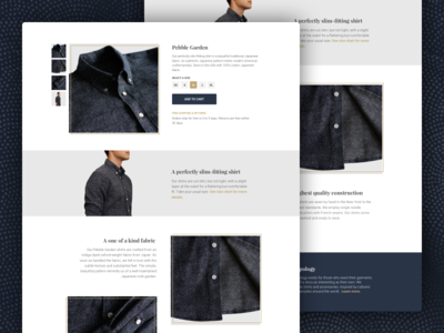 Topology Product Page ux ui product page shirts mens fashion shopping web product e-commerce ecommerce fashion