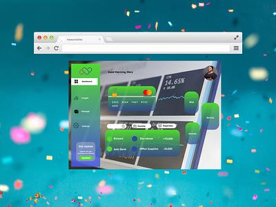 Online banking banking website branding minimal web app design figma