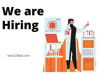 Hiring Ad illustration health firm hiring laboratory