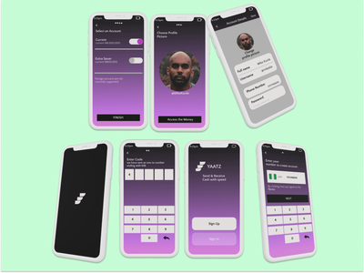 YAATZ ui design fintech app money transfer peer to peer mobile payment mobile banking payment method payment app