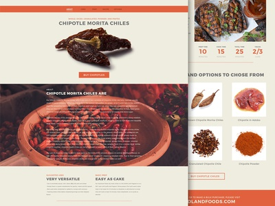 Single Page Site - Chipotle Morita Peppers